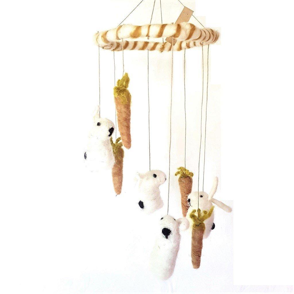 giochi di lana baby mobile conigli