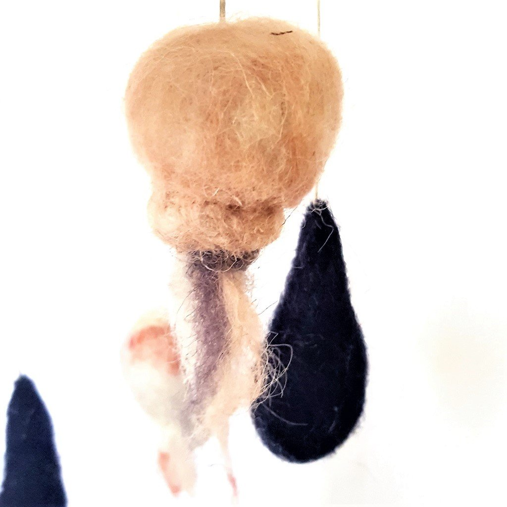 giochi di lana baby mobile meduse