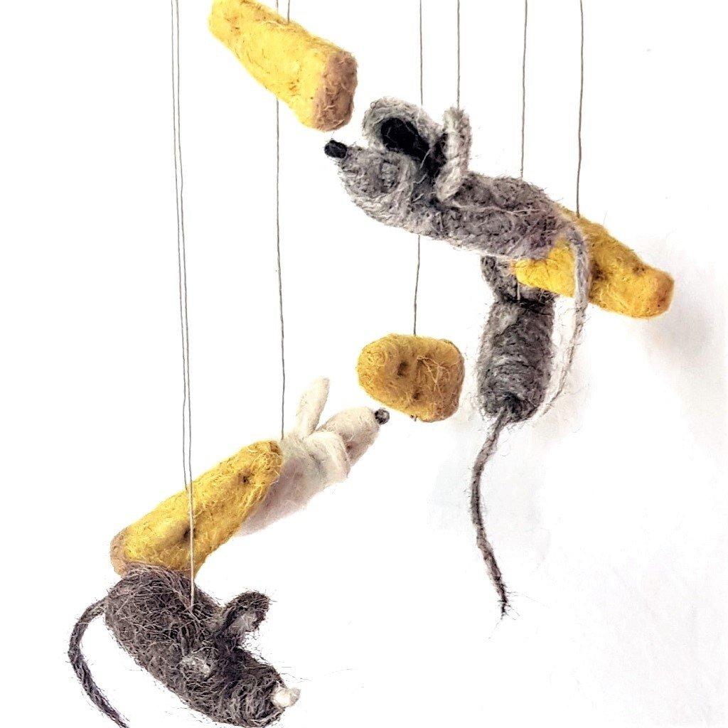 giochi di lana baby mobile topi