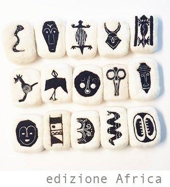 saponette rivestite di lana edizione africa