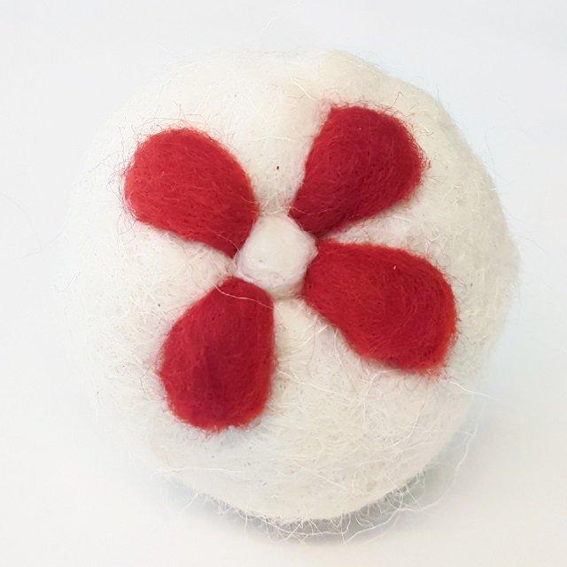 fiore bianco rosso bolle di sapone edizione primavera
